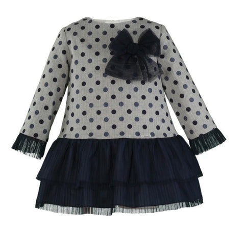 Miranda Girl's Polka Dot A Line Dress