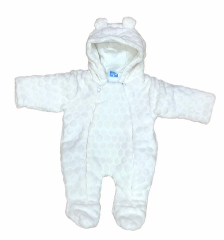 Sardon Baby's White Fleece SnowSuit