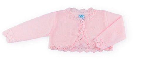 Sardon Baby Girl's Pink Knitted Cardigan