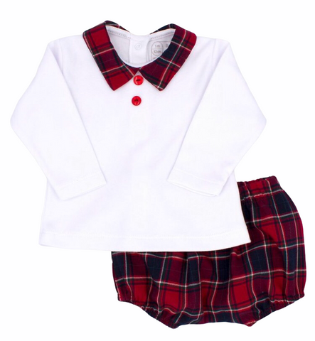 Rapife Baby Boy's Tartan Two Piece Set