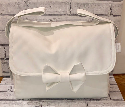 Uzturre White Leatherette Changing Bag