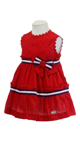 Basmarti  Baby Girl's Red, White And Blue Dress