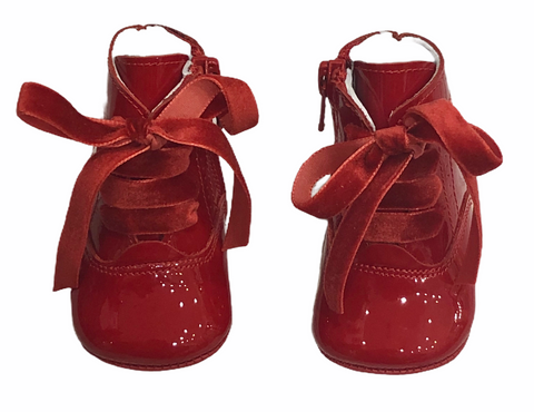 Pretty Originals Baby Girl's Patent Red Boots