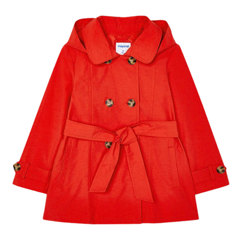 Mayoral Girl's Red Trench Coat