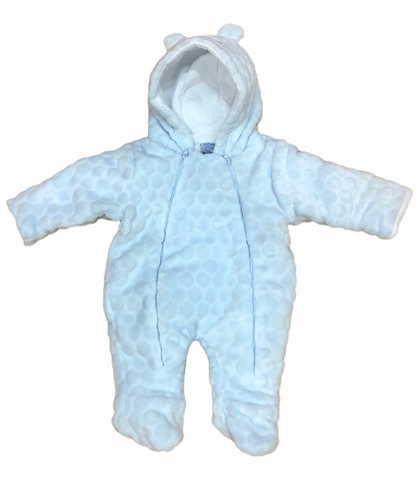 Sardon Baby Boy's Blue Fleece SnowSuit