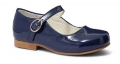Girl's Navy Blue Mary Jane Shoes