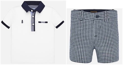 Mayoral Baby Boy's Polo Shirt And Short Set