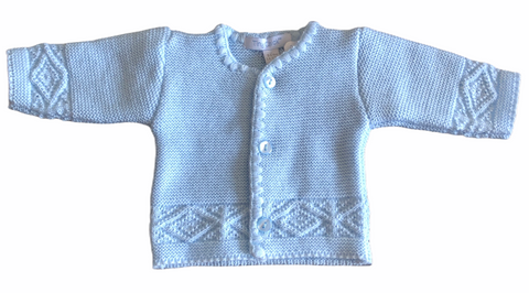 Premature Baby Boy's Blue Cardigan