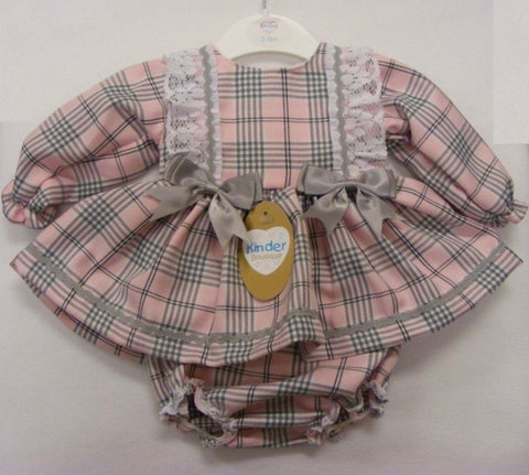 Kinder Baby Girl Two Piece Pink Checked Set