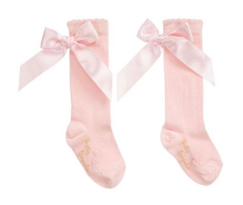 Pretty Original Pink Bow Knee High Socks