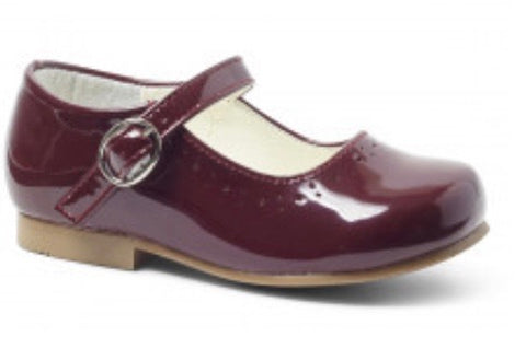 Girl's Burgundy  Mary Jane Shoes