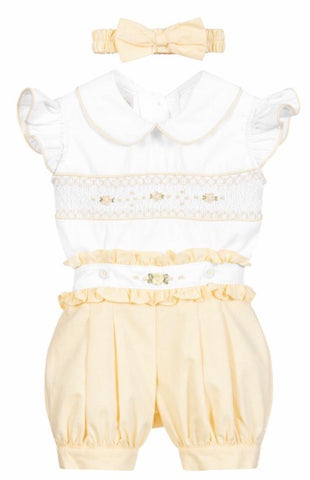 Pretty Originals Baby Girl's Lemon Short Set (PRE ORDER)