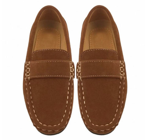 Boys Tan Loafers