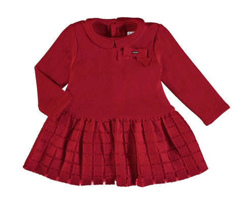 Mayoral Baby Girl's Red Dress With Contrasting Skirt