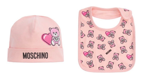 Moschino Pink Logo Hat Set