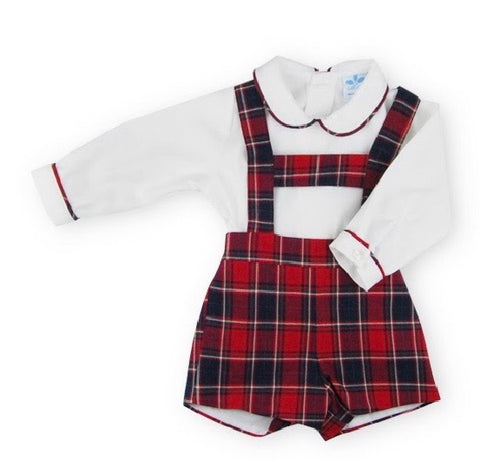 Sardon Baby Boy's H Bar Tartan Two Piece Set
