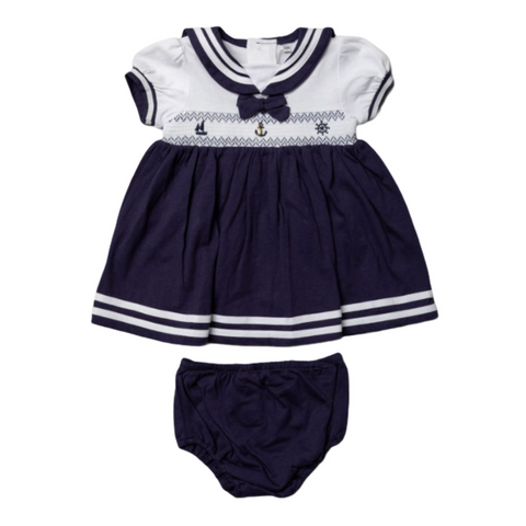 Baby Girl's Nautical Dress With Knickers