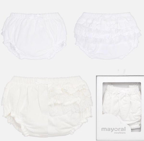 Mayoral Baby Girl's White Frilly Pants