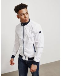 Paul & Shark Boy's White Light Weight Bomber Jacker