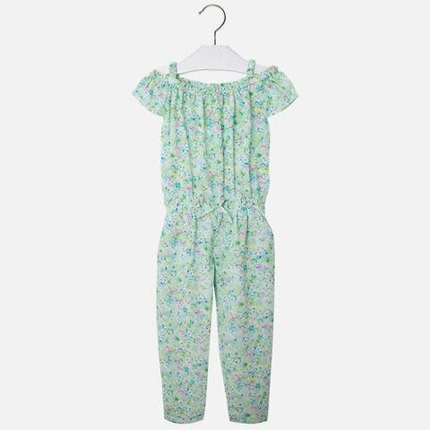 Mayoral Girls Playsuit With Floral Print
