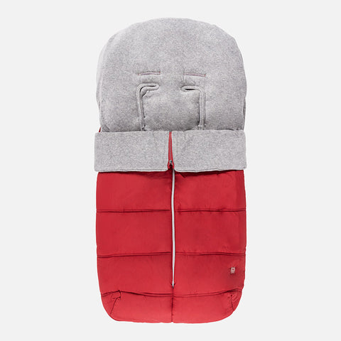 Red Pram Liner with Footmuff