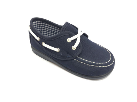 Sardon Navy Blue Boat Shoe