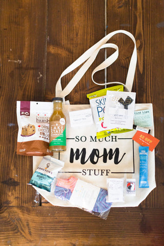 So Much Mom Stuff Canvas Tote Swag Bag