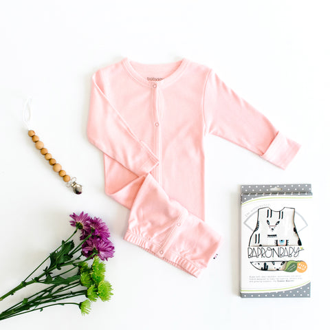 Pink Solid Baby Gown