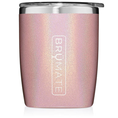 12 oz Rocks Tumbler Cup - Glitter Blush