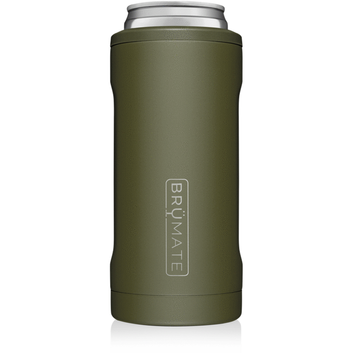 12oz Slim Can Cooler - OD Green