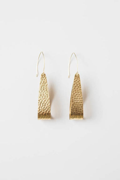Hammered Gold Loop Earring