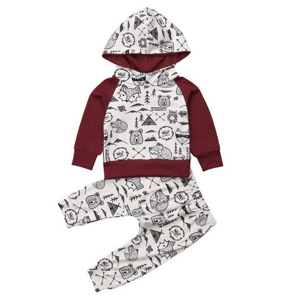 Into the Will 2 Piece Hooded Outfit