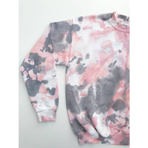 Marbled Fleece | Blush/Grey