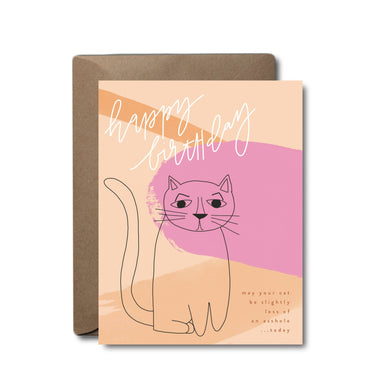 Asshole Cat Birthday Greeting Card