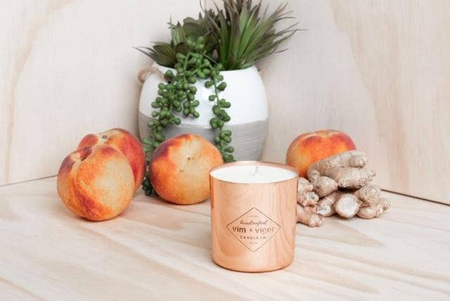 Ginger and Peach 8 oz Candle