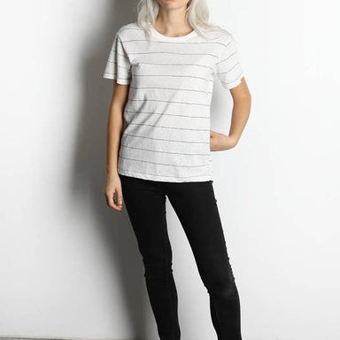 Ivory and Black Striped Tee