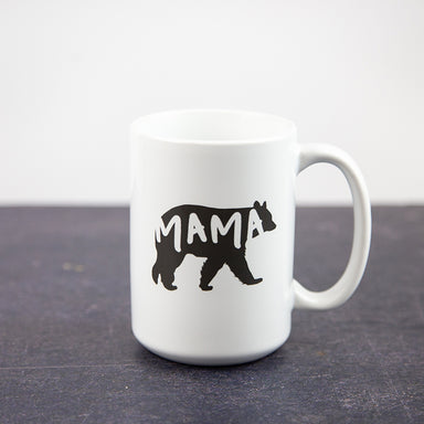 Dark Grey Papa Bear and Mama Bear Set 15oz Coffee Mugs