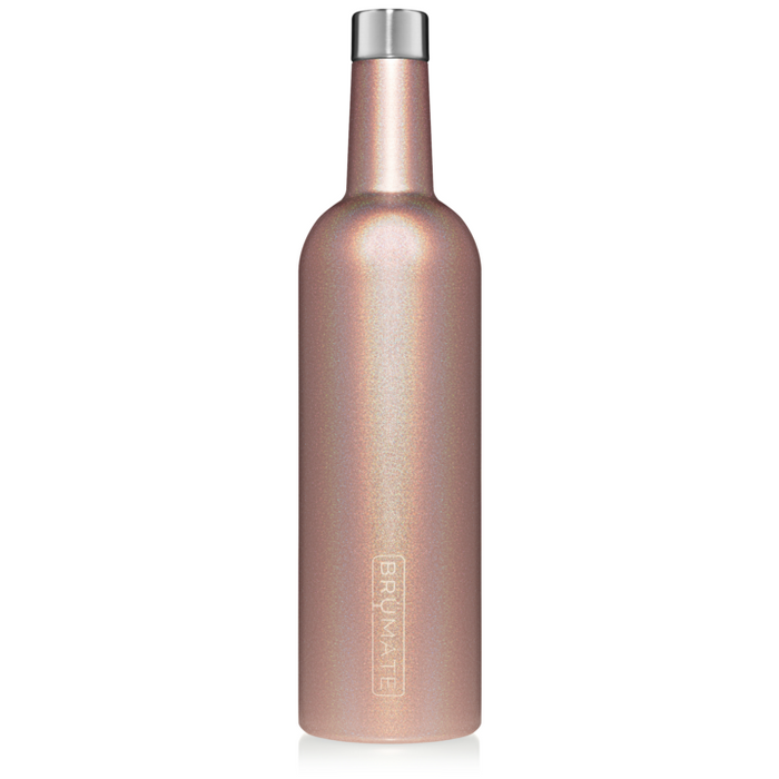 25oz Wine Canteen - Glitter Rose Gold