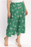 Green Ankle Pants with Floral Detail - Plus Size
