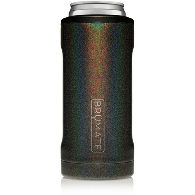 12oz Slim Can Cooler - Glitter Charcoal
