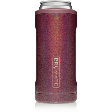 12oz Slim Can Cooler - Glitter Merlot