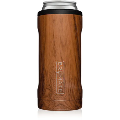 12oz Slim Can Cooler - Walnut