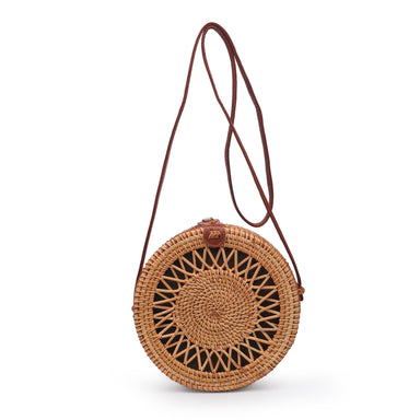 Nora Open Design Wicker Crossbody