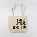 Fruits Veggies Junk Food Tote