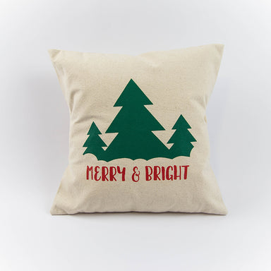 Merry & Bright 16x16 Canvas Pillow