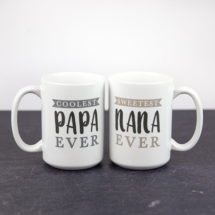 Nana and Papa Mugs | 15oz Coffee Mugs