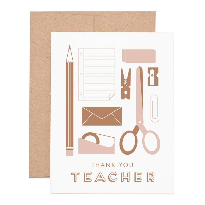 Teacher Appreciation Greeting Card