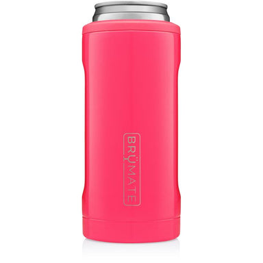 12oz Slim Can Cooler - Neon Pink