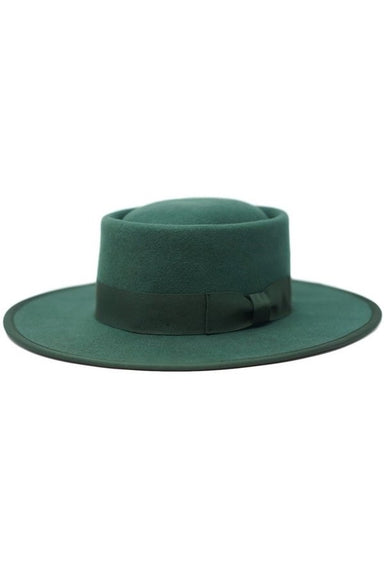 Wool Gambler Hat - Green