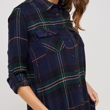 Plaid Flannel Button Up Shirt